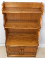 Ercol Elm Standing Open Waterfall Bookcase